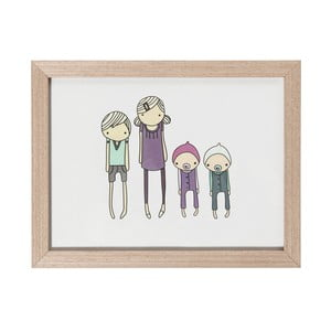 Drevený rámik Sebra Wooden Frame Children, 24 x 18 cm