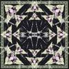 Šatka  Rama Black, 130x130 cm