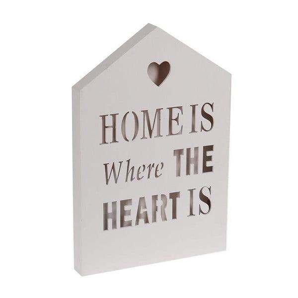 Svietiaca dekorácia Home Is White, 20x30 cm