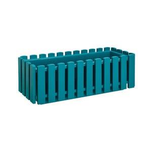 Tyrkysový samozavlažovací črepník Gardenico Fency Smart System, dĺžka 50 cm
