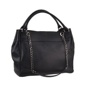 Čierna kožená kabelka Florence Bags Meissa