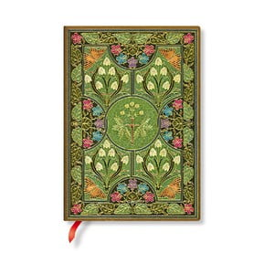 Nelinkovaný zápisník s mäkkou väzbou Paperblanks Poetry In Bloom, 13 x 18 cm