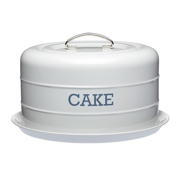 Sivá plechová dóza na koláč Kitchen Craft Cake
