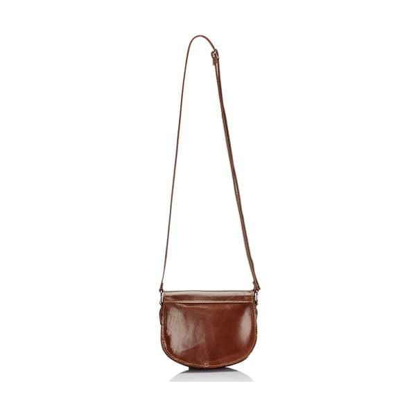 Hnedá kožená kabelka Giulia Massari Gitte