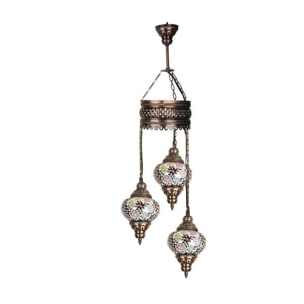 Sklenená ručne vyrobená závesná lampa Three Khalesi, 13 cm