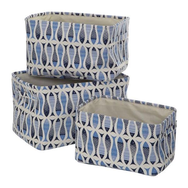 Sada 3 úložných boxov Premier Housewares Pisces