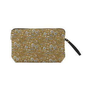 Bavlnená kozmetická taštička A Simple Mess Bodo Golden Yellow, 22×14 cm