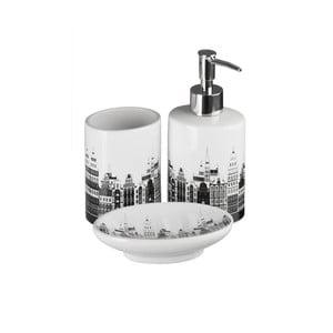 Set 3 kúpeľňových doplnkov Premier Housewares Skyline