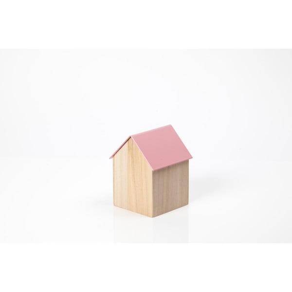 Ružový úložný box House Small