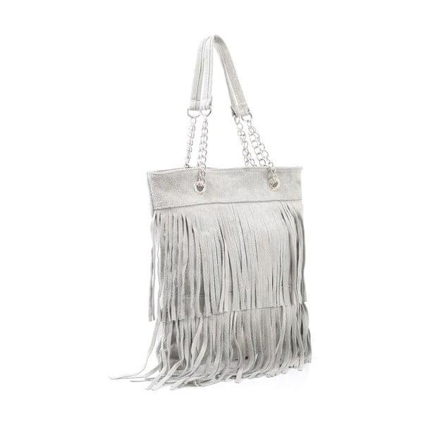 Kožená kabelka Marianne, sivá