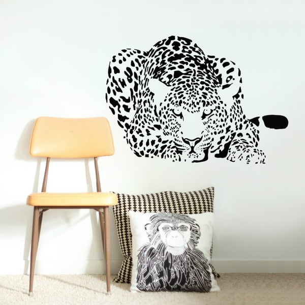 Dekoratívna samolepka na stenu Leopard