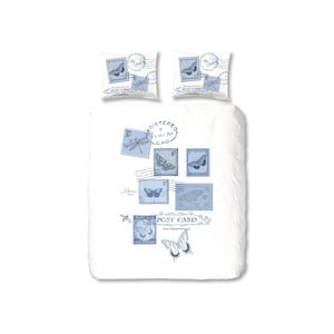 Obliečky Postage, 140x200 cm, modré