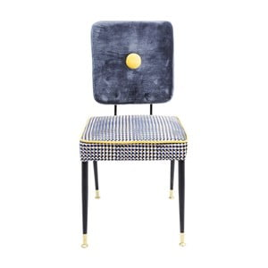 Modro-žltá stolička Kare Design Factory
