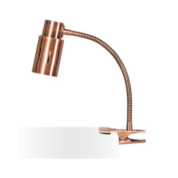 Medená stolová lampa s klipom ETH Sava