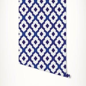 Modro-biela samolepiaca tapeta LineArtistica Janet, 60×300cm
