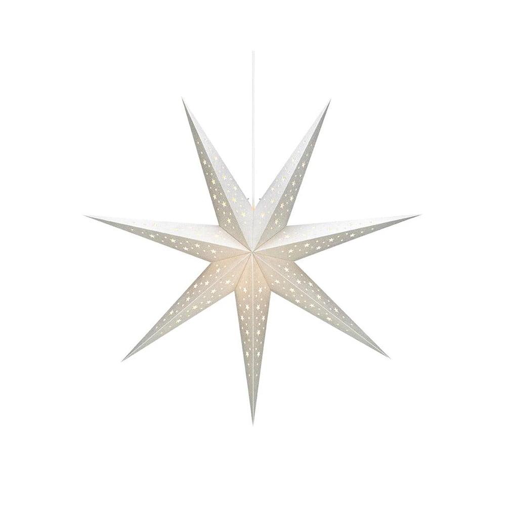 Biela svetelná dekorácia Markslöjd Solvalla, výška 75 cm