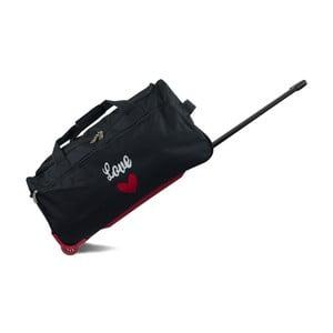 Čierna cestovná taška na kolieskach INFINITIF, dĺžka 60 cm
