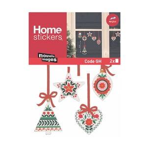 Elektrostatická samolepka Postershop Vianočné ozdoby