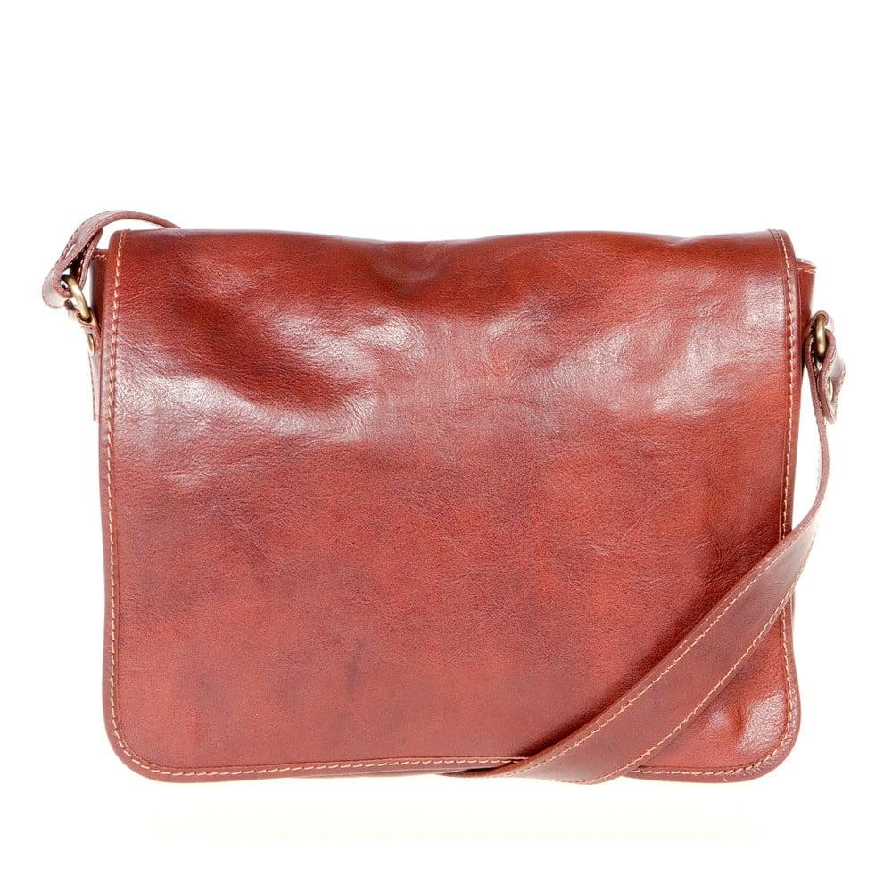 b75c7827e89e Hnedá kožená taška cez rameno Italia in Progress Paride