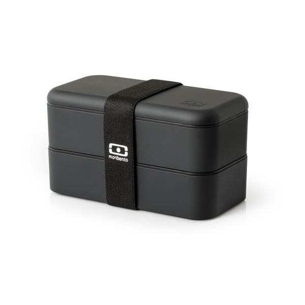 Čierny obedový box Monbento