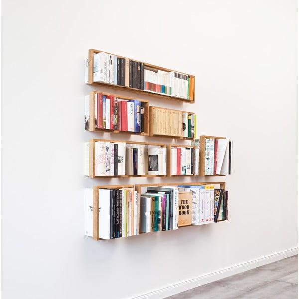 Polica na knihy z dubového dreva das kleine b b9, výška 34 cm