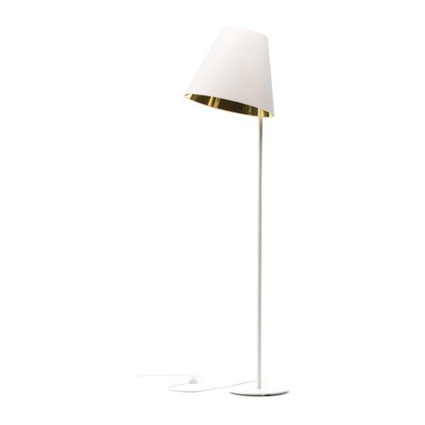 Bielo-zlatá stojacia lampa 4room Book, 158 cm