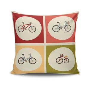 Vankúš s výplňou Bikes no. 1, 45x45 cm