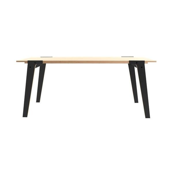 Čierny jedálenský/pracovný stôl rform Switch, doska 200x90cm