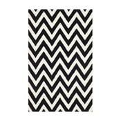 Vlnený koberec Safavieh Stella 121x182 cm, čierny