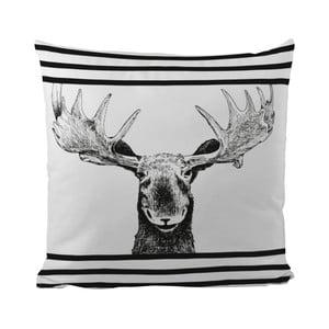 Vankúš Black Shake Smiling Moose, 50x50 cm