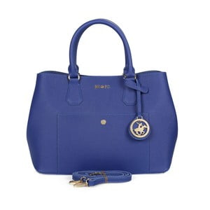 Modrá kabelka z eko kože Beverly Hills Polo Club Mona