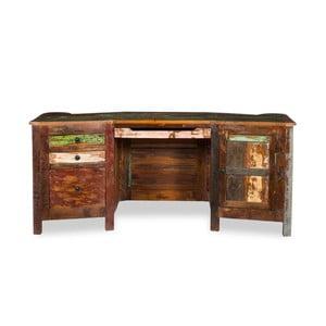 Písací stôl z recyklovaného dreva Woodking Colour