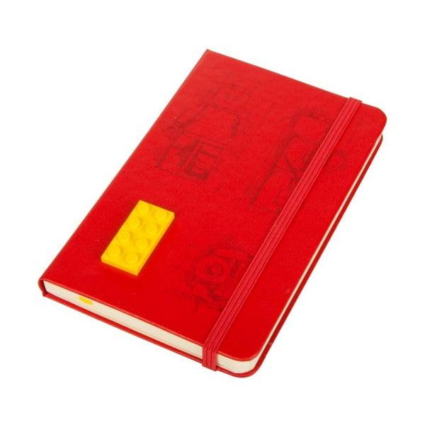 Zápisník Moleskine Lego Red, linajkový