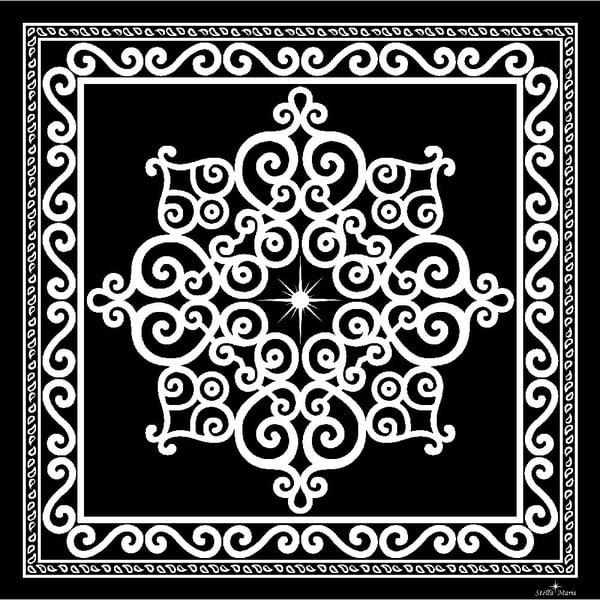 Hodvábna šatka Stella Maris Ornament