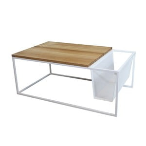 Odkladací stolík so stojanom na noviny Performa White