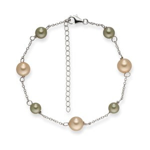 Perlový náramok Pearls Of London Elegance, 19 cm