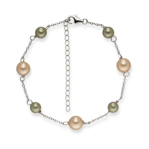 Perlový náramok Pearls Of London Elegance, 19 cm