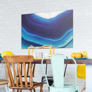 Sklenený obraz OrangeWallz Gemstone Blue, 76 x 114 cm