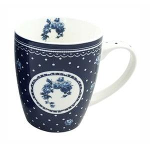 Modrý porcelánový hrnček HOME ELEMENTS De Campagne Pois, 340 ml