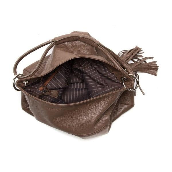 Kožená kabelka Anna Luchini 1071 Fango