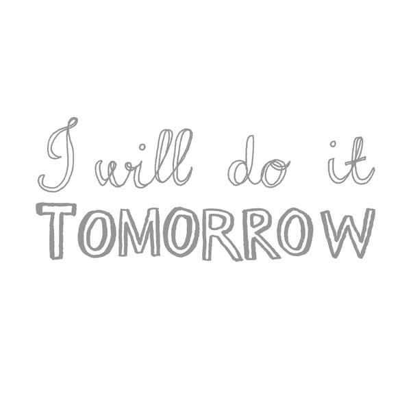 Obliečka na vankúš Do It Tomorrow, 50x70 cm