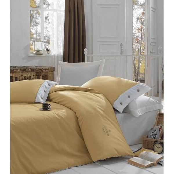 Bavlnené obliečky s plachtou na dvojlôžko Caramelino, 200 x 220 cm