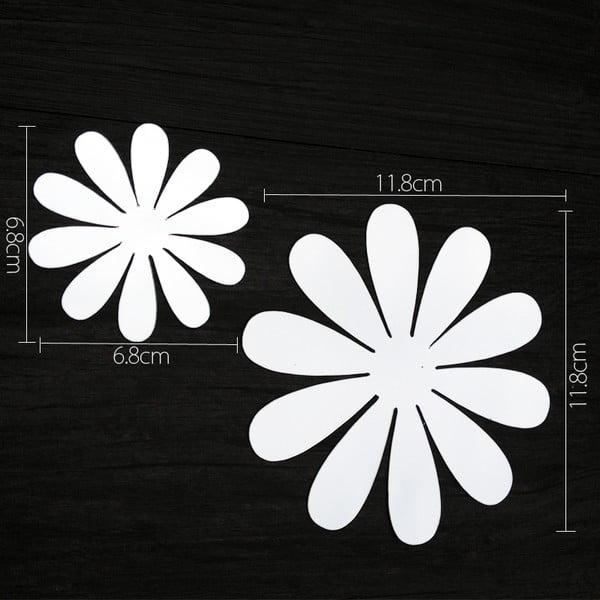 Sada 12 adhezívnych 3D samolepiek Ambiance Flowers Chic Mirror