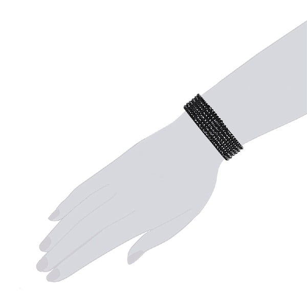 Náramok Simply Black, 17 cm