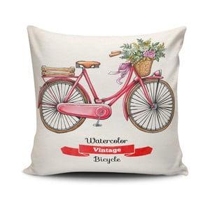 Obliečka na vankúš s prímesou bavlny Cushion Love Bycicle, 45 × 45 cm