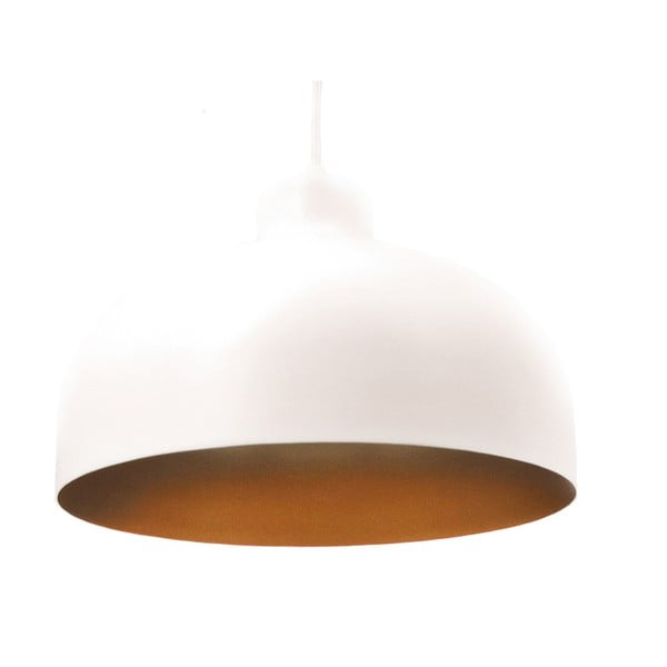 Bielo-zlaté stropné svetlo Loft You B&B, 44 cm