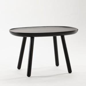 Čierny odkladací stolík z masívu EMKO Naïve Medium