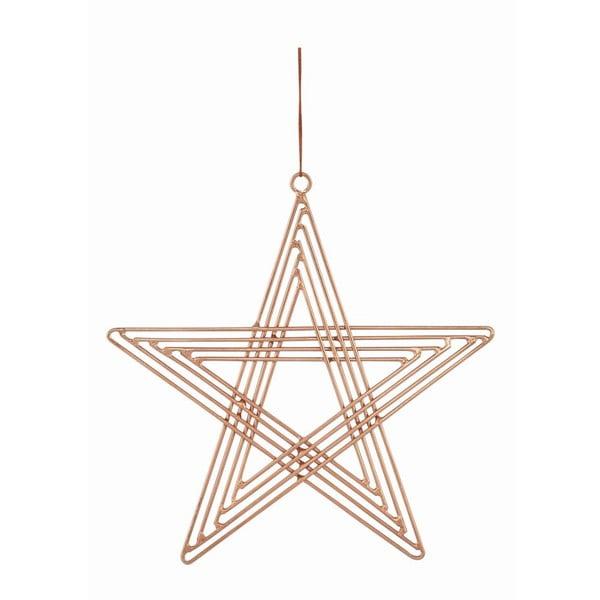 Sada 4 závesných hviezd Path Copper