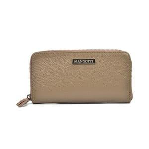Sivohnedá kožená peňaženka Mangotti Bgs Flora