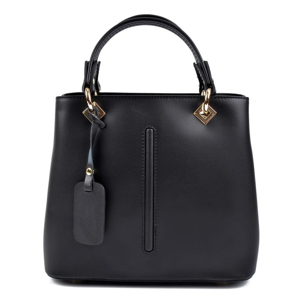 Čierna kožená kabelka Roberta M Bella